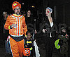 Slide Photo of Angelina Jolie, Brad Pitt, Shiloh Jolie-Pitt and Zahara Jolie-Pitt Dressed up for Halloween