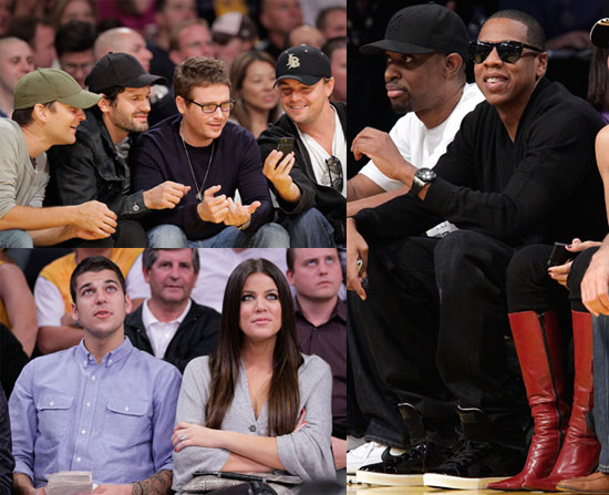 Photos of Jay-Z, Leonardo DiCaprio And Tobey Maguire at The Lakers Vs. Hornets Game; Jay-Z Ready to Have Kids With Beyonce?