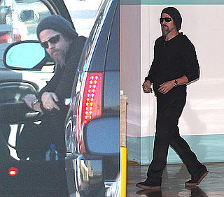 Photos of Brad Pitt Driving Solo Around LA
