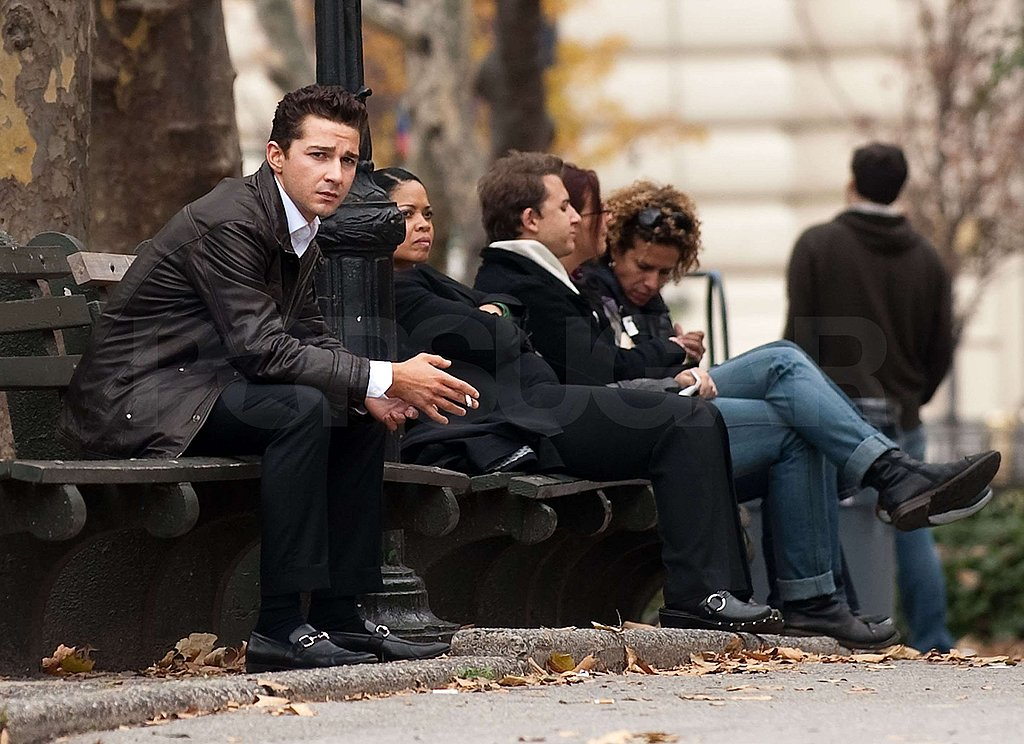 Photos of Shia LaBeouf on the Set of Wall Street 2