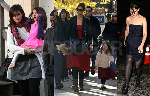 Photos of Katie Holmes Filming The Romantics on Long Island; in Boston With Suri Cruise