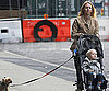 Slide Photo of Naomi Watts Pushing Sasha in Stroller with Dog