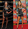 Victoria's Secret Models Selita Ebanks and Alessandra Ambrosio Wear the Same Balmain Dress
