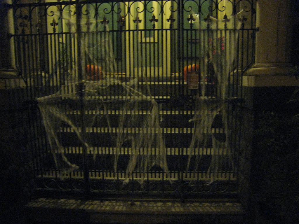 Close your gates and cover them in scary cobwebs. Source: Flickr User SharonaGott