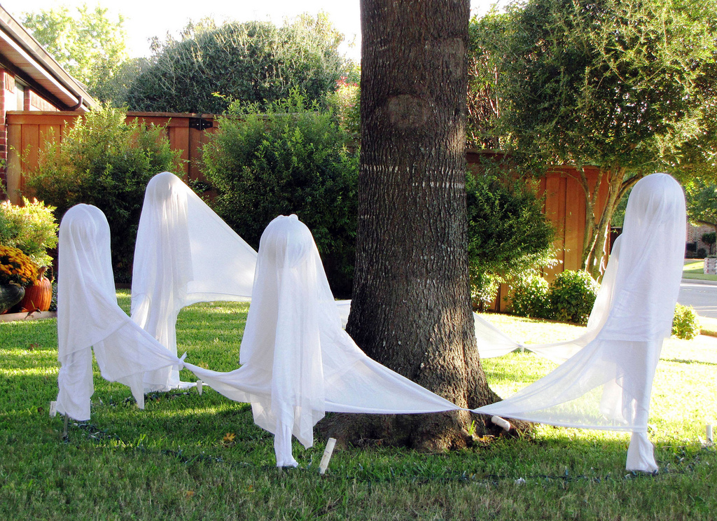 Host a ghost party on your lawn. Source: Flickr User Sultry