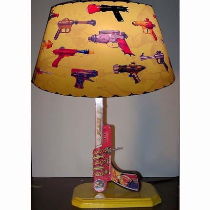 Go for some retro kitsch with the Flash Gordon Lamp ($125).