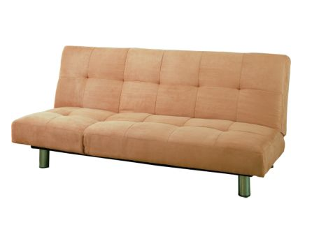 This Freeman Klik Klak Sofa ($299.99) will establish a great neutral background for your living room. It also converts to a bed for overnight guests.
