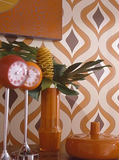 Get a similar groovy feel with this Graham & Brown Trippy Wallpaper ($40 per roll).