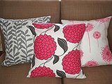 These three new 18-x-18-inch designer handmade pillow cases from Milk and Cookies can be yours for $55.