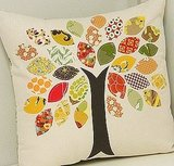 I love this Fall tree pillow from Cluck Cluck Sew.