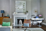 Boston-based interior designer Frank Roop uses gray in the most magnificent way, layering slightly different hues on every surface. He uses different materials, such as grasscloth, marble, and velvet to add texture, and then adds accent colors to keep it from looking sterile. Definitely try this at home!