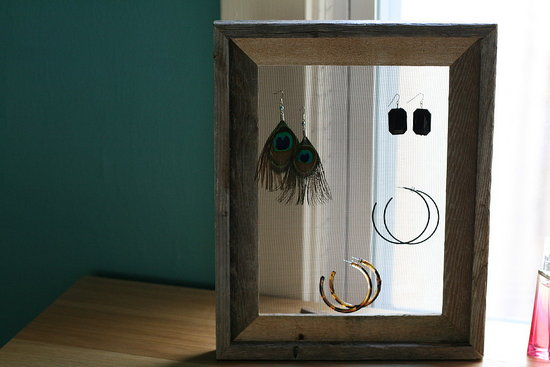 Fotoflat's Shannon has a sweet dad who made her this screen display for her earrings. Learn how to make your own here.