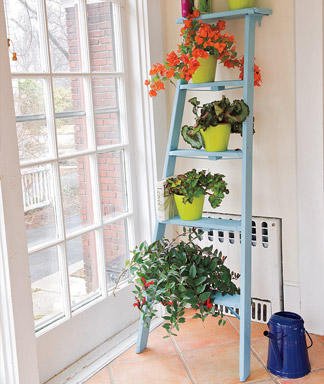 Woman's Day shows you how to make an indoor plant stand.