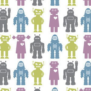 Artist Aimee Wilder's Robot Wallpaper is absolutely adorable. Who'd be scared of these adorable bots?