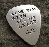 If your dad, like mine, is a guitar player, then get him a pick that he will love and cherish. This Custom Guitar Pick ($48) is made of sterling silver and can be handprinted with a message of your choice.