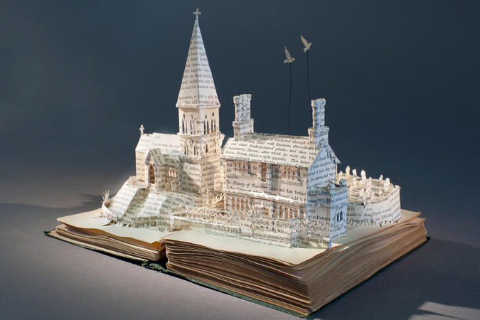 Artist Su Blackwell creates delicate, hand-cut landscapes and structures from books.