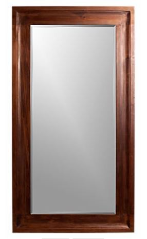 The Beverly Floor Mirror ($999), with a wide walnut frame, is a more masculine option for a floor mirror.
