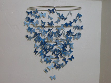 Give the wee one something special to stare at from his crib with this Whimsical Jubilee Butterfly Mobile ($52).