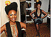 Photos of Shingai Shoniwa of the Noisettes at the 2009 Q Awards with Fruit Head Piece