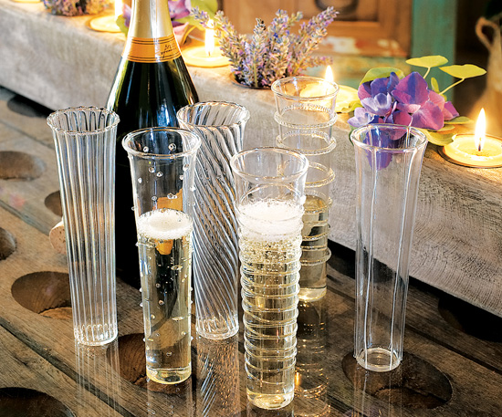 Venetian-Style Champagne Flutes
