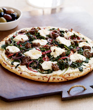 Easy Sausage-Ricotta-Arugula Pizza Recipe