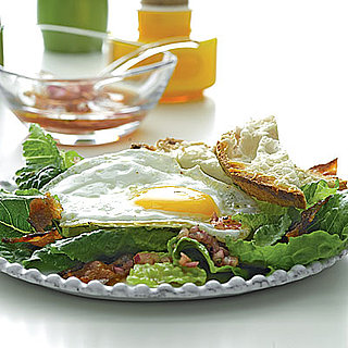 Bacon, Lettuce, and Fried Egg Salad With Jarlsberg Toast