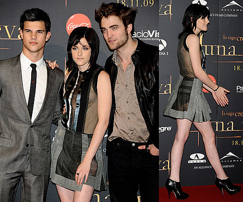 Photos of Robert Pattinson, Kristen Stewart, Taylor Lautner at New Moon Event in Madrid 2009-11-12 13:36:41