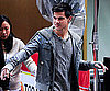 Slide Photo of Taylor Lautner Leaving Today Show in NYC