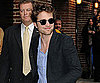 Slide Photo of Robert Pattinson Arriving to Film with David Letterman