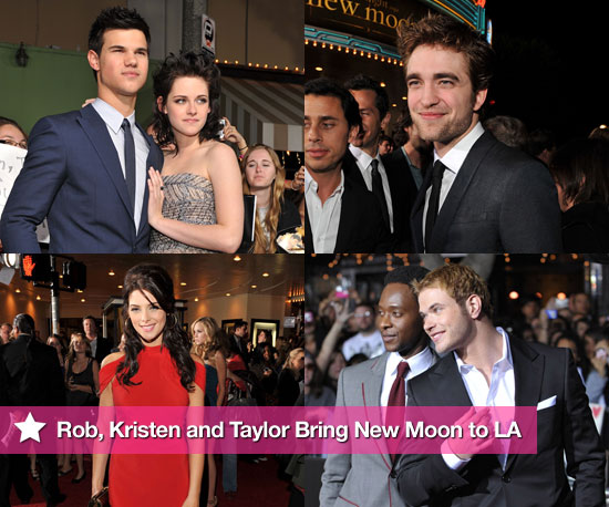 Photos of Twilight's Taylor Lautner, Robert Pattinson, Kellan Lutz, and Kristen Stewart at The LA Premiere of New Moon
