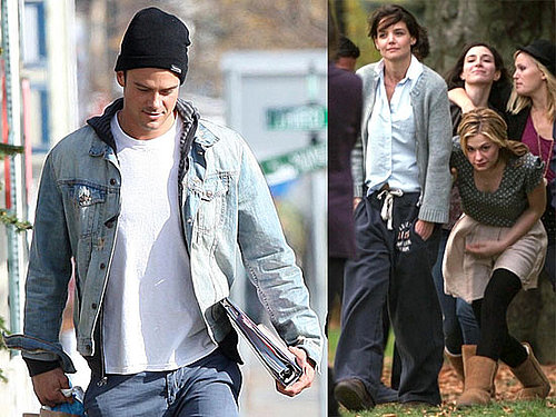 Photos From the Set of The Romantics With Josh Duhamel, Katie Holmes, Anna Paquin, Elijah Wood, and Jeremy Strong