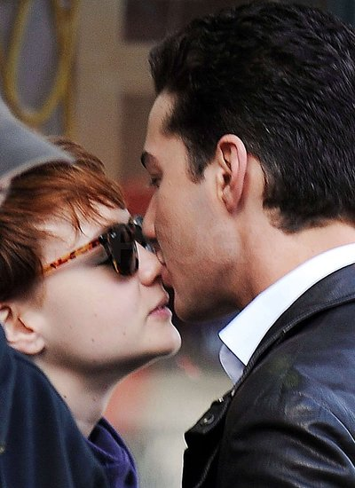 Photos of Shia Kissing Carey Mulligan on Set of Wall Street 2