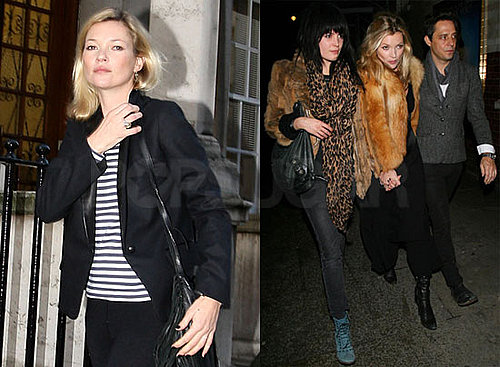 Photos of Kate Moss With Jamie Hince And Alison Mosshart in London