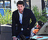 Slide Photo of Patrick Dempsey Filling Up Car in LA