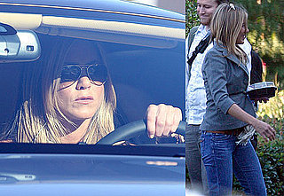 Photos of Jennifer Aniston Driving Her Bentley Around LA
