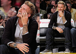 Photos of Jack Nicholson, David Beckham, George Lopez, Simon Baker, Leslie Mann, Judd Apatow, Josh Groban Watching the Lakers 2009-11-16 12:30:47