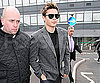 Slide Photo of Zac Efron at Heathrow Airport in London