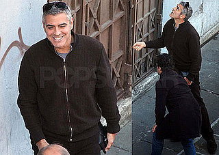 Photos of George Clooney on the Set of The American