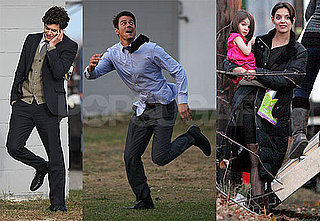 Photos of Adam Brody And Josh Duhamel Filming The Romantics With Katie Holmes After She Talked Her Way Through New Moon