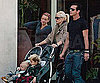 Slide Photo of Gwen Stefani and Gavin Rossdale Pushing Kingston and Zuma in LA