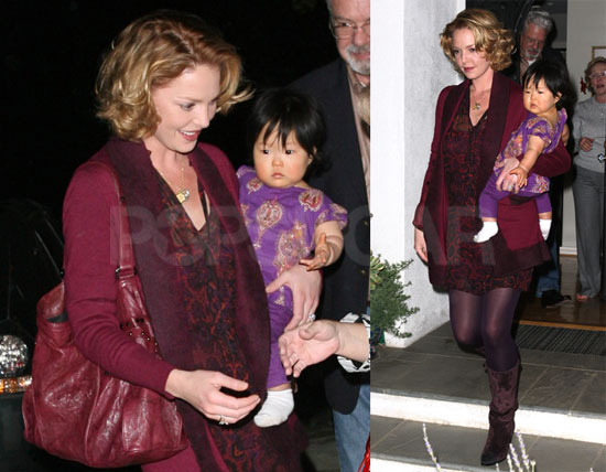 Photos of Heigl and baby