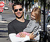 Slide Photo of Tobey Maguire and Ruby at Breakfast