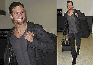 Photos of True Blood's Alexander Skarsgard at LAX