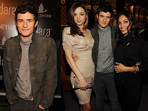 Photos of Orlando Bloom, Rosario Dawson, And Miranda Kerr Celebrating a Hotel in Vegas