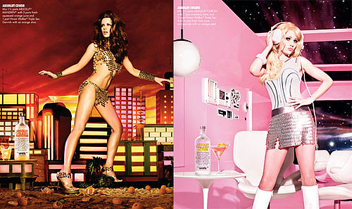 Zooey Deschanel and Kate Beckinsale Absolut Ads