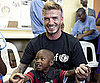 Photo Slide of David Beckham in South Africa with UNICEF