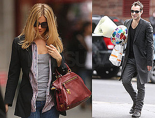 Photos of Sienna Miller and Jude Law Going to Jonny Lee Miller's Son's Birthday Party
