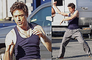 Photos of RDJ on set