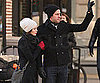 Slide Photo of Emily Blunt and John Krasinski Bundled Up in New York