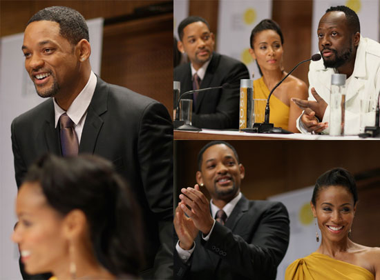 Photos of Will and Jada At the Nobel Peace Prize Concert Press Conference 2009-12-11 09:49:23